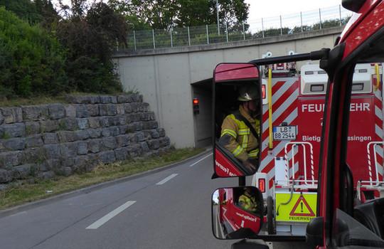 Teaserbild der Einsatzmeldung: Tunnelübung Grotztunnel