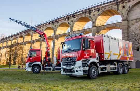 Teaserbild der Einsatzmeldung: Die neuen WLF's der Feuerwehr Bietigheim-Bissingen