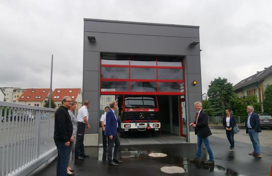 Teaserbild der Einsatzmeldung: Einweihung der neuen WLF-Halle in Bissingen